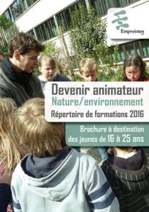 Cover de la brochure Animateur Nature/Environnement